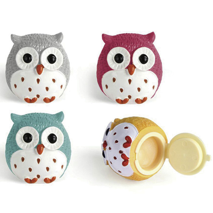 Owl Lip Gloss & Emery Board