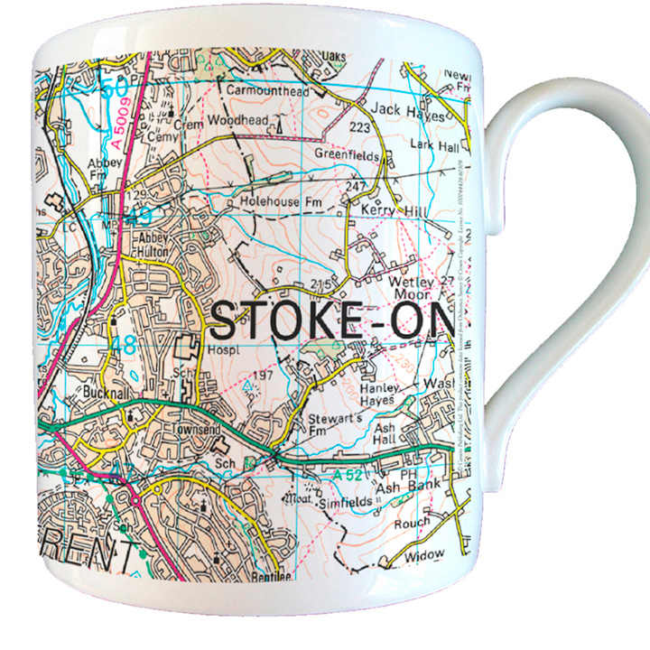 Personalised Map Mug - Present Day
