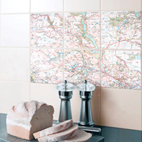 Ceramic Map Tiles - Landranger 15 x 15cm