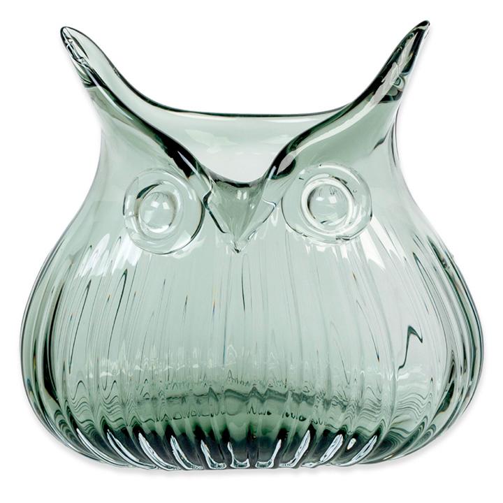 Owl Vases - Smoke & Amber