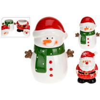 Santa & Snowman Storage Pots