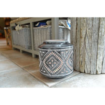Tealight Lantern - Dark Grey