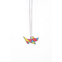 Origami Cat Necklace