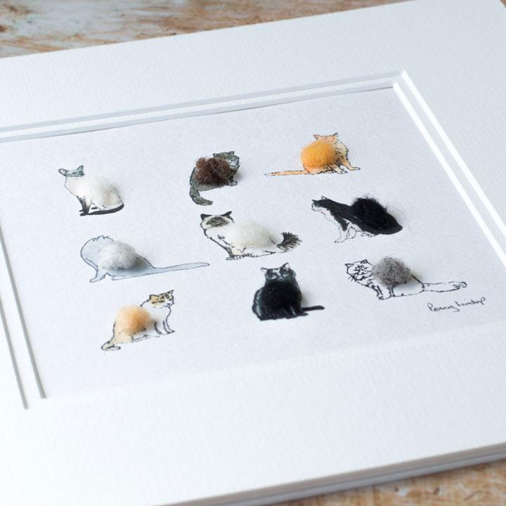 Nine Cats Print