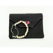 Feline Sophistication - Cat Silhouette Bracelet & Keyring