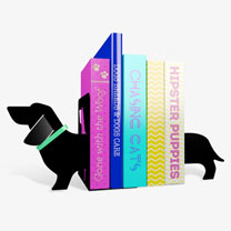 Dog-shaped Bookends