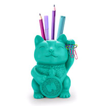 Lucky Cat - Pen Pot & Eraser Toppers