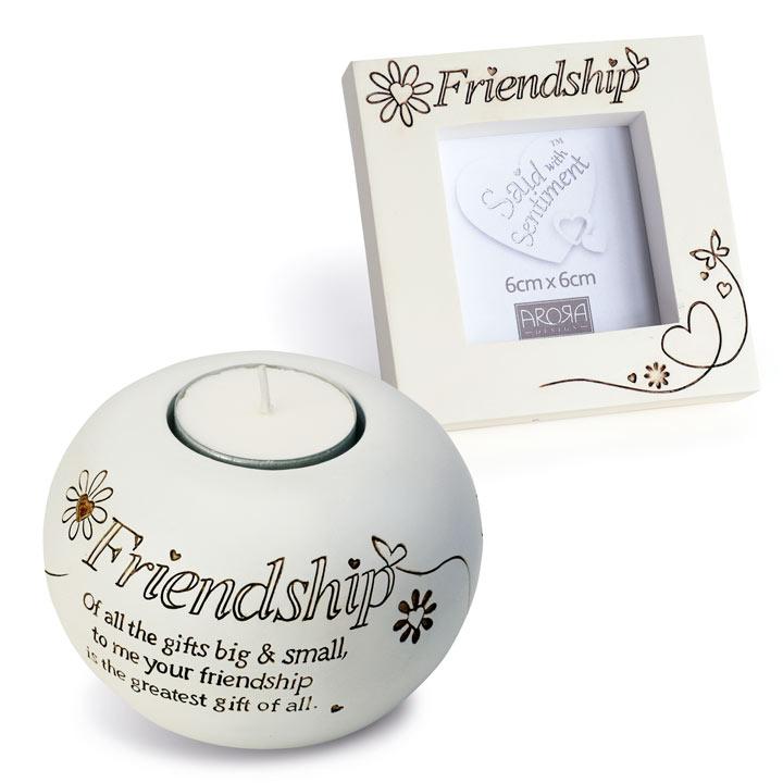 Friendship Frame & Tealight Gift Set