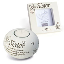 Sister Frame & Tealight Gift Set