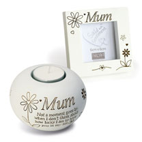 Mum Frame & Tealight Gift Set