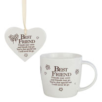 Ceramic Mug & Heart - Best Friend