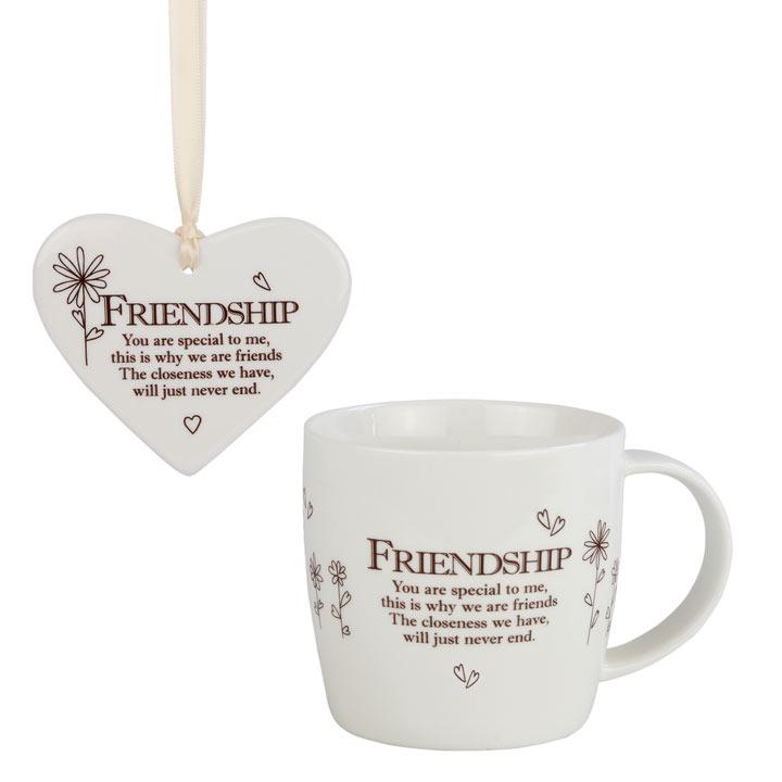 Ceramic Mug & Heart - Friendship