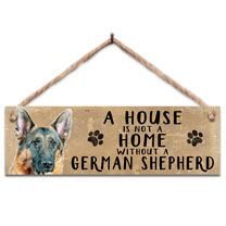 German Shepherd Home Wooden Sign