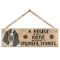 Springer Spaniel Home Wooden Sign
