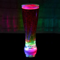 Multi-Coloured Strobing Beer Glass