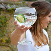 Giant Crystal Gin Glasses
