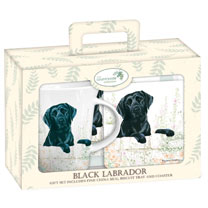 Black Labrador Teatime Set