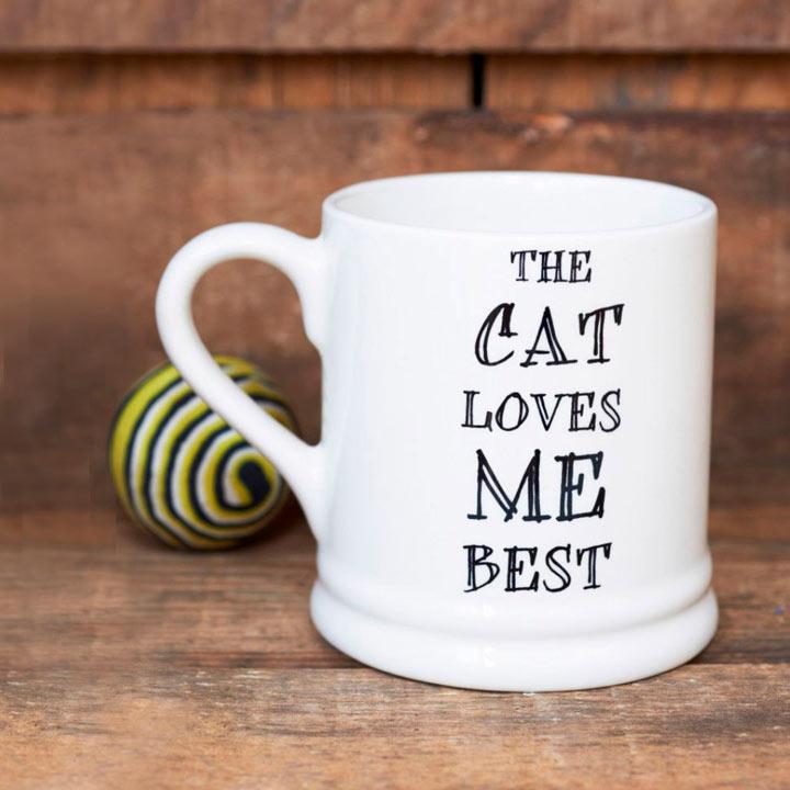 Cat Loves Me Best Mug