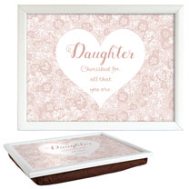 Sentiment Lap Tray - Daughter