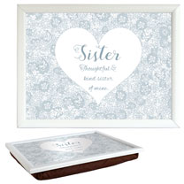 Sentiment Lap Tray - Sister