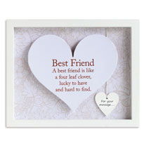 Sentiment Heart Frame - Best Friend