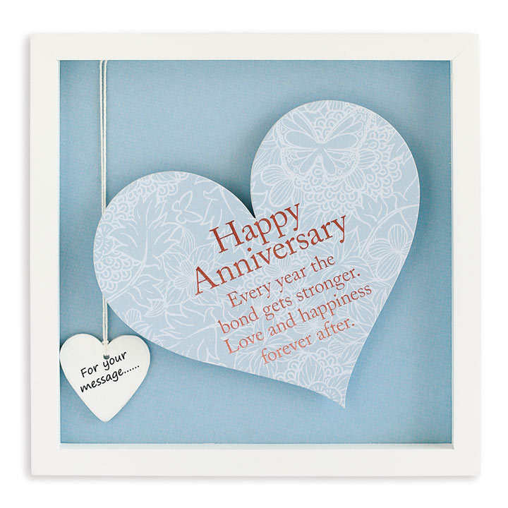 Sentiment Heart Frame - Happy Anniversary