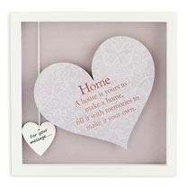 Sentiment Heart Frame - Home