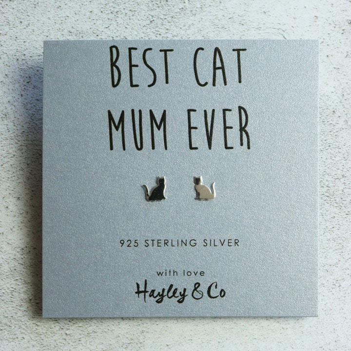 Best Cat Mum Earrings