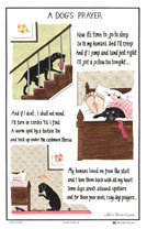 Dogs Prayer Tea Towel