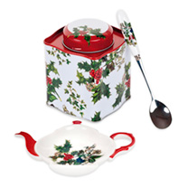 Holly & Ivy - Tea Caddy Set or Tea For One