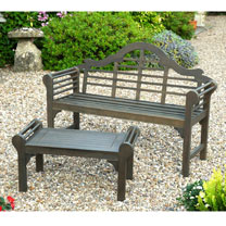 Lutyens Garden Bench & Matching Low Level Table