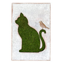 Flocked Wall Art - Cat