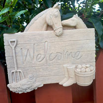 Barnyard Welcome Plaque