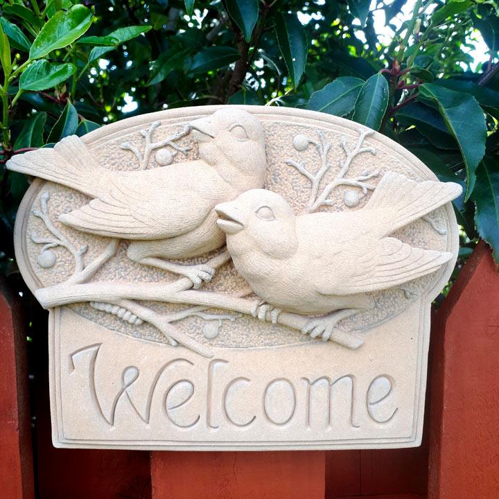Welcome Birds Plaque