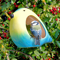 Blue Tit Ceramic Bird Feeder