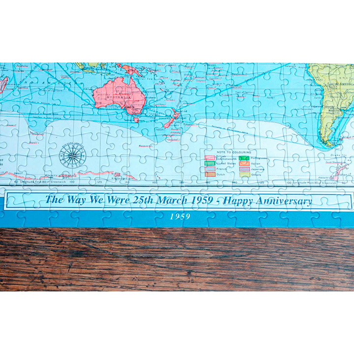 Personalised 400 Piece Map of the World Jigsaw