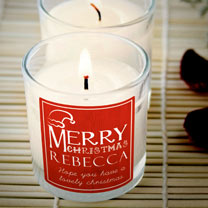 Scented Christmas Candle - Rose