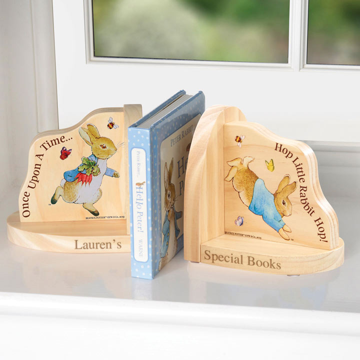 Personalised Peter Rabbit Bookends