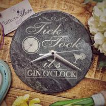 Slate Gin Clock