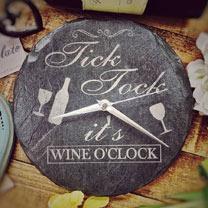 Slate Wine Clock