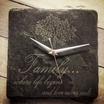 Slate Family Clock
