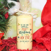 Personalised Merry Christmas Candle