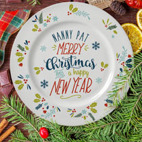 Personalised Merry Christmas Plate