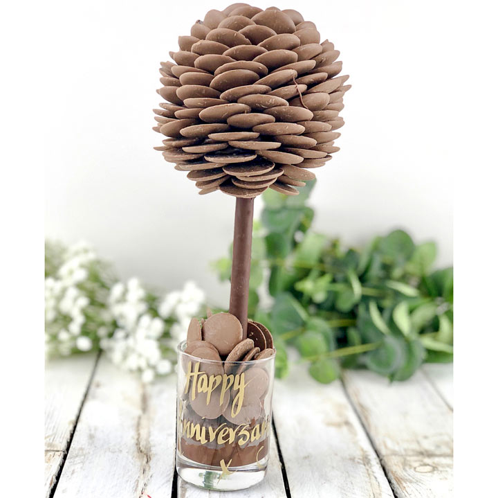Personalised Chocolate Buttons Tree