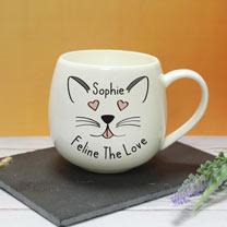 Personalised Feline the Love Mug