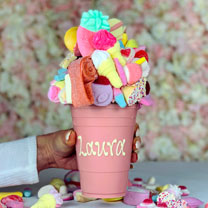 Personalised Pink Chocolate Smash Cup