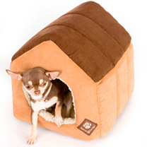 Suede Brown Pet House - Small