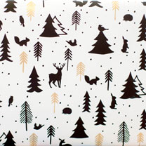White Woodland Wrap - 36m
