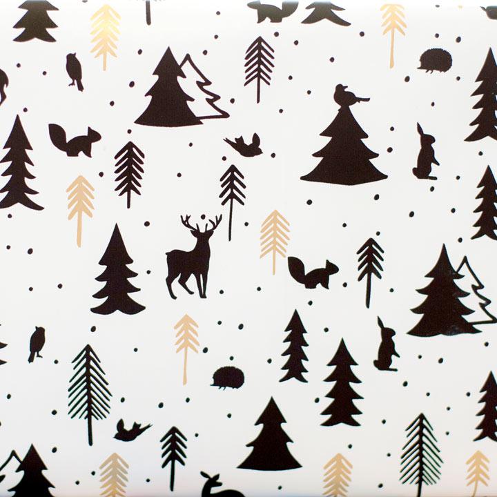 White Woodland Wrap