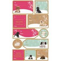 Dog Sticky Gift Labels